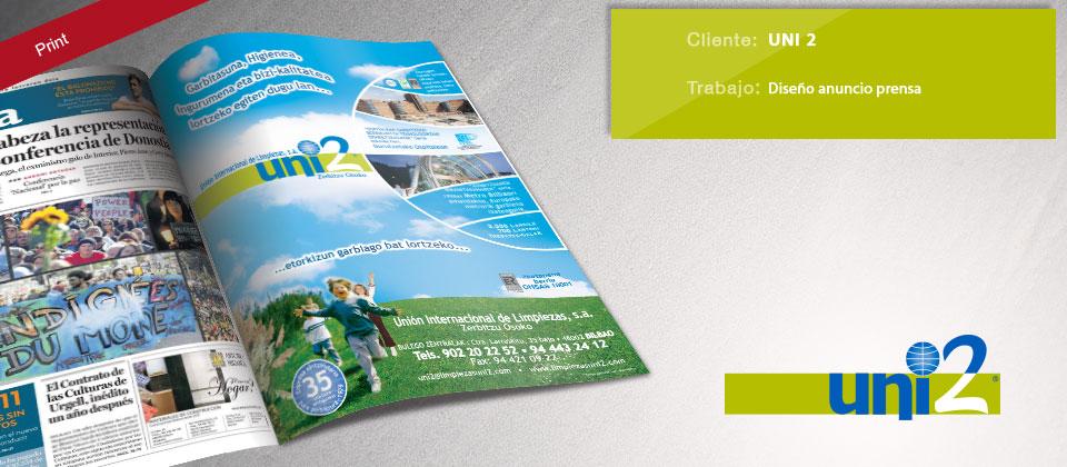 diseño anuncio de prensa Uni2