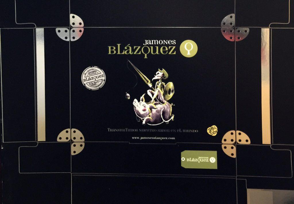 diseño packaging Jamones Blázquez