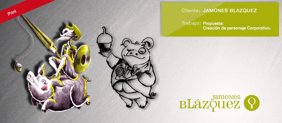 Propuestas de Logotipos Jamones Blázquez