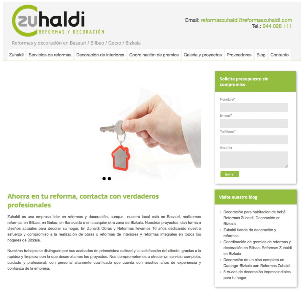 diseño web zuhaldi
