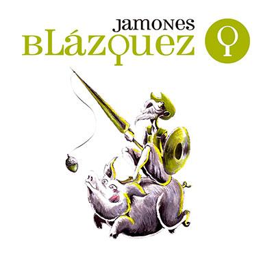 logotipo jamones blazquez campaña exterior