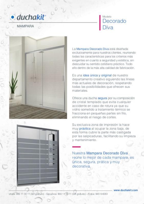 Diseño Ficha de producto-servicio Duchakit