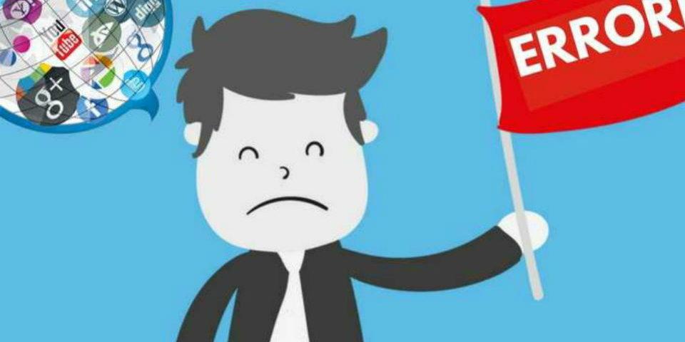5 errores en redes sociales