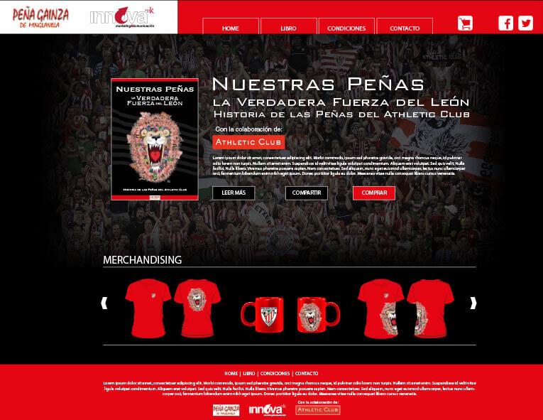 Diseño web Nuestras Peñas la Verdadera Fuerza del León