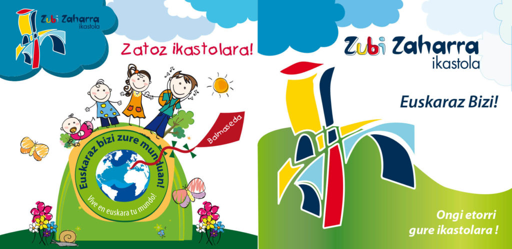 Diseño gráfico folleto Ikastola Zubizaharra