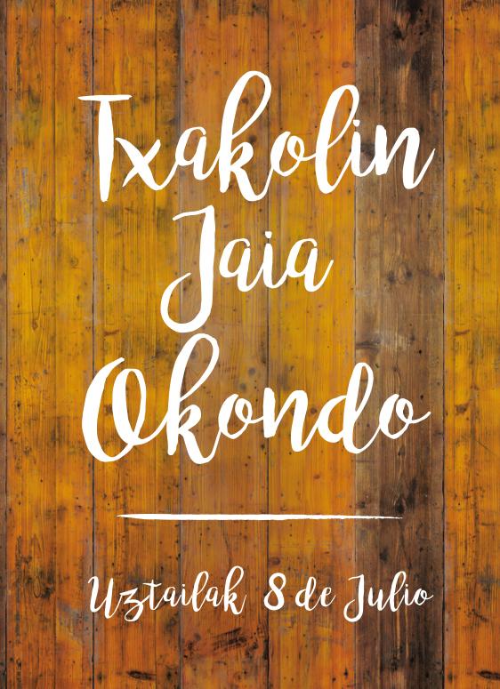 DiseñoCartel Txakolin jaia Okondo