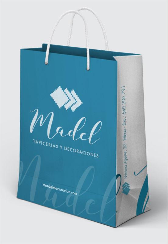 diseño corporativo bolsa papel