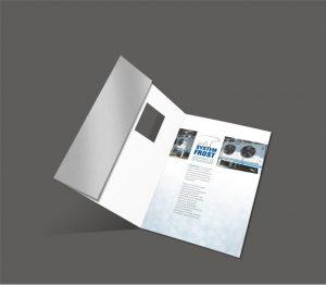 diseño catálogo portada troquelada Systemfrost